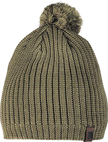 Nitro Snowboards Borealis '19 Strickmütze mit gewebter Krempe Bommel Fleece Beanie Damen Hat, Chive, One Size