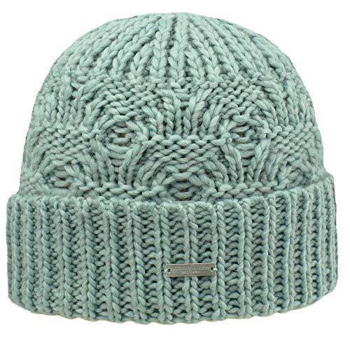 Seeberger Strickmütze Linda Special Hat Damen Mädchen Herbst Winter, Grün One size