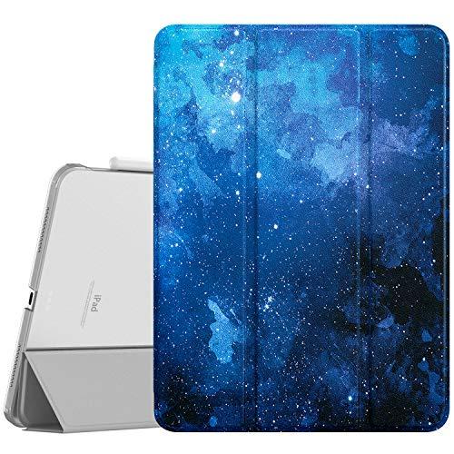 """Dadanism Funda Compatible con iPad Air 4 (4ª Generación) iPad 10,9"""" 2020, Suave y Ligero Protector de PC Inteligente Case Cover con La Función de Auto Estela/Sueño, Noche de Estrella Azul"""