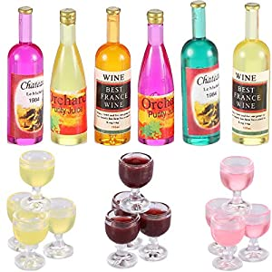 Abundant package: there are 18 pieces of chic miniature wine cups in the package for you, it contains 4 pieces of pink wine glasses with round bottom, 4 pieces of yellow wine glasses with round bottom, 4 pieces of purple wine glasses with round botto...