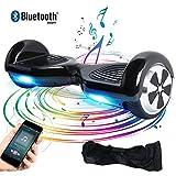 Windgoo Hoverboard Bluetooth, 6,5 Pouces Overboard Électrique, Auto-Équilibrage Tout Terrain Board pour Enfants et Adultes Cadeaux, Noir