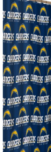 NFL San Diego Chargers 72-Inch-by-72-Inch Shower Curtain