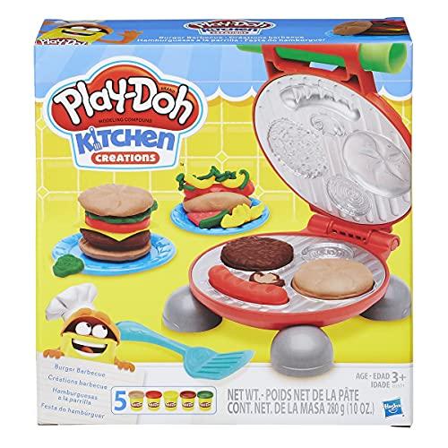 Play-Doh Kitchen Creations Barbacoa para hamburguesas, a partir de 3 años