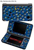 Nintendo DSi XL Skin - Punched Holes Midnight Blue