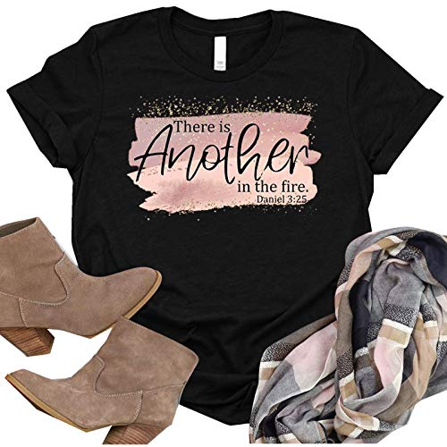 BUKINIE Womens Crew Neck T Shirt, Summer Short Sleeve Letter Print Graphic Tee Casual Round Neck Blouse Tops for Women Plus Size Black