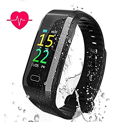 AKASO Fitness Tracker HR, Waterproof Activity Tracker with Heart Rate and Sleep Monitor, Color Screen Fitness Watch with Step Counter, Calorie Counter, Pedometer Watch for Android & iOS