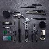 Juego de herramientas para el hogar, juego de herramientas de bricolaje y reparación del hogar con caja de herramientas para el hogar: destornilladores, alicates, martillo, llaves y más