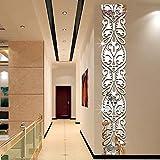 zhenfa Carré Long Wall Sticker entrée Fond décoratif Mur Miroir 3D stéréoscopique Jaclico Remove Cadre de Vie Stickers muraux al