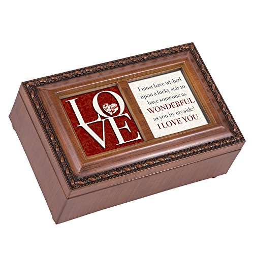 Love You By My Side Petite Rope Trim Petite Music Box Plays You Light Up My Life
