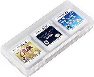 Blanco 6 en 1 Tarjetas de Juego Caso Translúcido Viajar Protector Soporte de Almacenamiento Organizador para Cartuchos de Nintendo 3DS y DS por SamGreatWorld