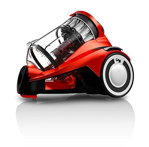 Dirt Devil Infinity Aspirapolvere senza Sacchetto con Tecnologia Multiciclonica Rebel 55 HFC e Spazzola Parquet, 800 W, 76 Decibel, Rosso