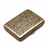 Retro Metal Cigarette Case Box - Yhouse Double Sided Spring Clip Open Pocket Holder for 20...