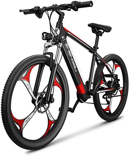 Electric Bike Electric Mountain Bike, Powerful Fat Tire Electric Bicycle Aluminium Frame Suspension Fork Beach Snow Ebike Electric Mountain Bicycle 400W Motor 48V 10AH Lithium Battery for the jungle t