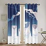 Par de paneles de cortina de ventana para dormitorio Steven Universe cortinas de tratamiento para habitaciones de niños, 183 x 160 cm
