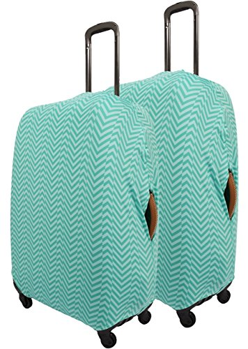 Travel Smart by Conair Two Pack Elasticated Luggage Suitcase Cover Washable Durable Fits Universal 71-81cm/28-32' Luggage Green