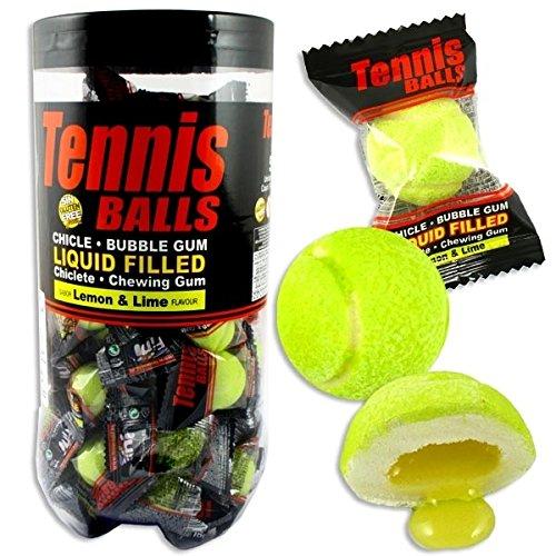 Tennisball-Kaugummis mit Zitronen-/ Limetten-Geschmack, 50 Fruchtkaugummi-Bälle