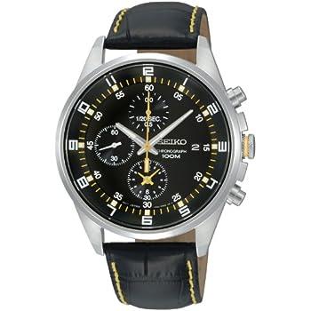 [セイコーインポート] 腕時計 セイコーimport クロノグラフ デイト SNDC89PD 逆輸入品 ブラック