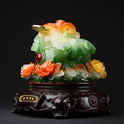 AMYZ Lucky Money Frog,Feng Shui Money Lucky Fortune Oriental Chinese Wealth Frog Toad Coin Decor,Home Decoration Collection Gift