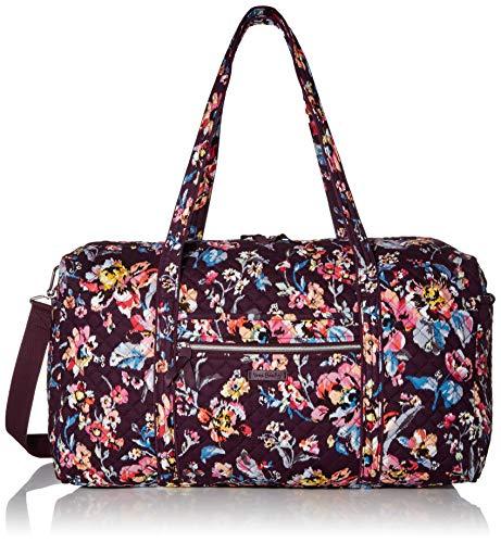 Vera Bradley Women's Vera Bradley Women s Signature Cotton Large Travel Duffel Travel Bag Indiana Rose One Size, Indiana Rose, Large 22 US