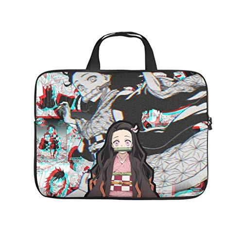 Kamado Nezuko Kimetsu no Yaiba Laptop Bag Multifuntional High Capacity Laptop case Sleeve Laptop Messenger Bag for Office School Business Trip for Men Women White 12 Zoll