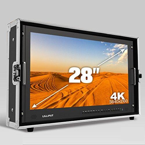 LILLIPUT 28 inch BM280-4K 3840x2160 Resolution Full HD Broadcast Ultra-HD 4K Field Monitor Film director 4K Field camera Kamera Feldmonitor Bildschirm with 3G SDI HDMI DVI VGA TALLY +HOOD