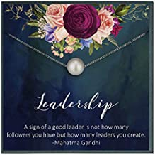 Leadership Gifts for Woman, Female Boss Gifts, Retiremnt Gifts for Woman, Leader Gifts, Girl Boss Leaving Go Away Farewell Gift 8MM Swarovski Pearl