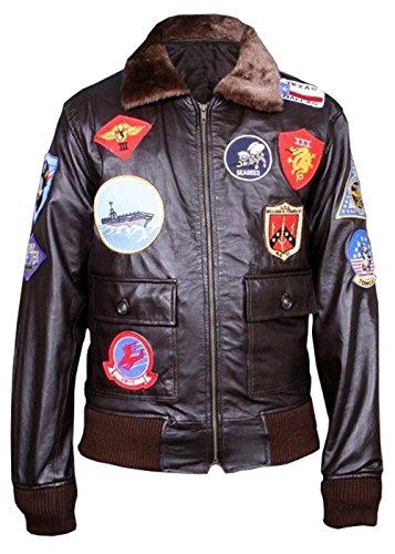 Top Gun Chaqueta de cuero Tom Cruise Pete Maverick Top Gun Flight Bomber Elegante Chaqueta de cuero