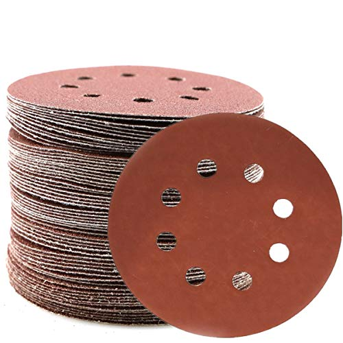 60Pcs Sanding Discs 5 Inch 8 Holes, 1000 1200 1500 2000 3000 Grit Assorted Sandpaper, Fine Grit Hook and Loop Random Orbital Sander Round Detail Sand Paper