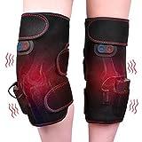 Protège-genou chauffant vibrant pour protéger les genoux, donne un soutien à la thérapie à 2 jambes pour les entorses du genou, les douleurs articulaires, le soulagement de la douleur chez les hommes