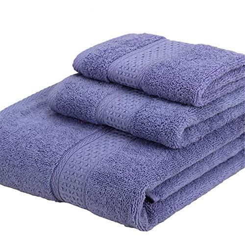 Conjunto De Toallas De Baño De 3 Piezas, Lámina De Baño Extra Grande, Conjuntos Cuadrados De Toalla, Absorbente De Algodón Y Toalla De Toalla De Envoltura De Secado Rápido,Light Purple