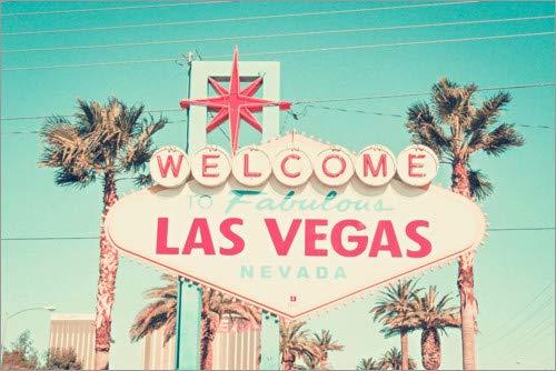 Posterlounge Cuadro de metacrilato 30 x 20 cm: The Vegas, Nevada de Art Couture