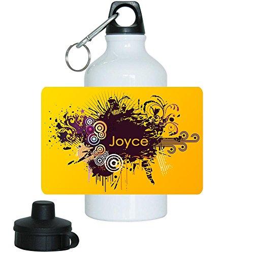 Trinkflasche mit Namen Joyce und schönem Motiv mit Kreisen für Mädchen