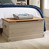 Corona Solid Wood Otto<span class='highlight'>man</span> Storage Chest Mexican Grey Toy Chest Bedding <span class='highlight'>Blanket</span> <span class='highlight'>Box</span>
