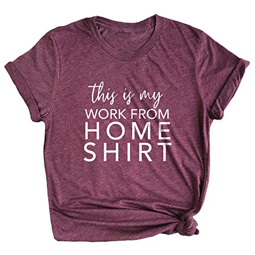 Spunky Pineapple This is My Work from Home Shirt Funny Quarantine Life Premium T-Shirt Maroon