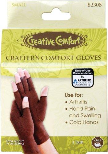 Dritz Comfort S Crafters Glove, Brown, 2