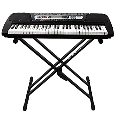 RockJam 54-Key Portable Electronic Keyboard with Interactive LCD Screen & Includes Piano Maestro Teaching App with 30 Songs