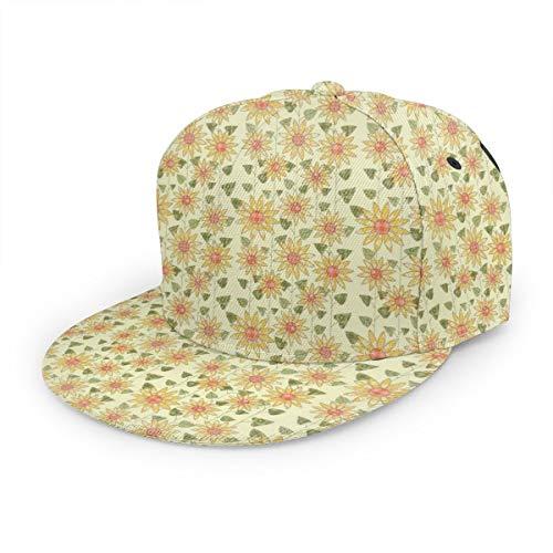 Inaayi Baseballkappe mit Sonnenblumen-Muster, rustikaler Landhaus-Trucker-Hut, Plaid-Baseballkappe für Herren und Damen, verstellbar, Schwarz