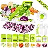 Gemüseschneider Gemüsehobel, DA Heng 9 in 1 Vielseitiger Gemüsehobel Kartoffelschneider Obstschneider, Handschutz, Frischhaltedose