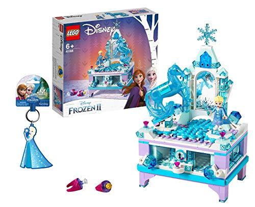 Lego Disney Frozen 2 Elsas Schmuckkästchen 41168 + Disney Frozen Queen ELSA PVC Soft Touch Keyring