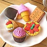 Senoow 30 Stücke Sammeln Set Von Entzückenden Puzzle Süßes Dessert Lebensmittel Kuchen Radiergummis Für Kinder Puzzle Spielzeug Party Favors Schatzkiste Artikel für Klassenzimmer