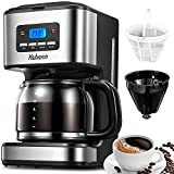 Yabano Filter Coffee Machine with Insulated Jug 1.8L, Timer Feature, Anti-Drip System, Stainless