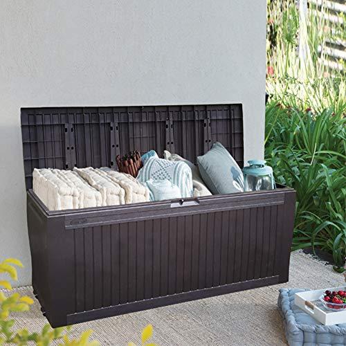 ZHOUAICHENG Jardín al Aire Libre Caja de Almacenamiento Caja de Almohada Balcón Patio Patio Almacenamiento Cofre Cobertizo Plástico Protector Solar Grande Impermeable con fácil Movimiento