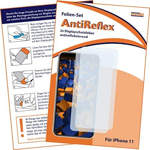 mumbi Schutzfolie kompatibel mit iPhone 11 Folie matt, Displayschutzfolie (2x)