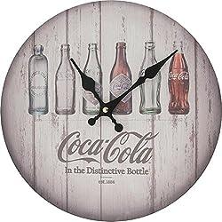 Sunbelt Gifts Coca-Cola Evolution Bottles Clock, Multi