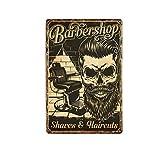 Segno Di Latta Metallo Decorazione Plaquevintage Barber