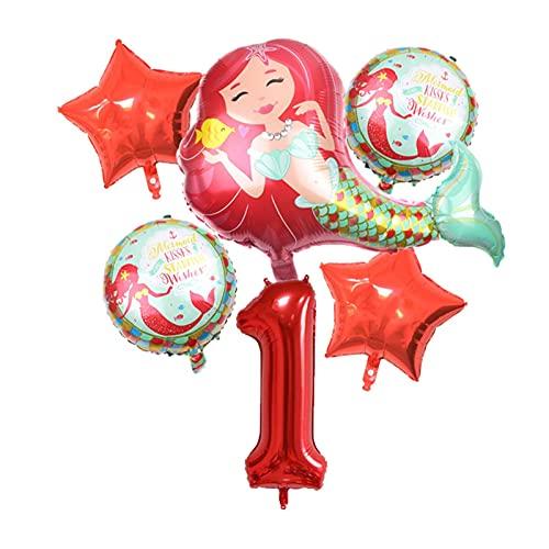 XIAOZSM Globos Globos de lámina de sirpea púrpura roja con número de dígitos de 40 Pulgadas Helio Globo Dibujos Animados Globos Decoraciones de Fiesta de cumpleaños niños o Adultos ( Farbe : Red 1 )