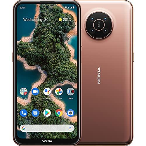 "Nokia X20 5G Smartphone, Dual-SIM, RAM 8GB, ROM 128GB, 64MP Quad-Kamera, Wasserzeichen-Fähigkeit, 6,67"" Full HD+ Display, langlebiges Design, 2 Tage Akkulaufzeit und Pure Android 11 - Midnight Sun"