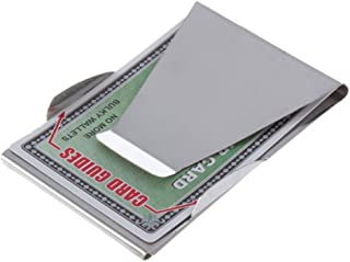 S-shine Slim Double Sided Money Clip Stainless Steel Money Wallet Clips Money Folder Wallet Coin Holder Credit Card Holder (Stainless Silver)