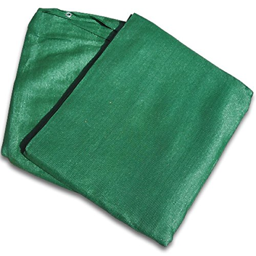 Windschutzplane grün 2 x 12 m - 220 g/m² - Sichtschutz Zaunblende Windschutz Tennis