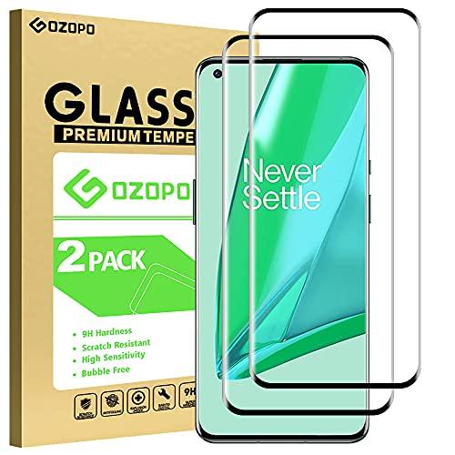 [2 Stück] GOZOPO Panzerglas Schutzfolie für Oneplus 9 pro, 3D Vollständigen Abdeckung Keine Blasen Kratzfest Bildschirmschutzfolie für Oneplus 9 pro
